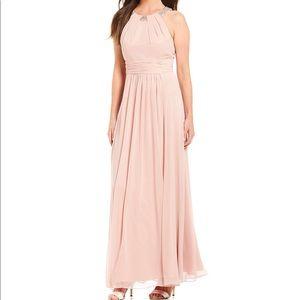 Eliza J Beaded Halter Gown NWT
